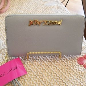 Sale as is Betsey Johnson wallet with strap
